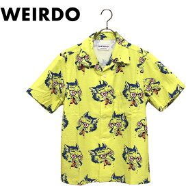 WEIRDO/ウィアード by GLADHAND - WOLF BAIT - S/S SHIRTS - ウルフプリント半袖開襟シャツ本品はポイント+1倍です!