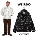 WEIRDO/ウィアード by GLADHAND - ATOMIC WEIRDO - HOODIE - アトミック総柄プリントフードジャケット ※日本国内送料…