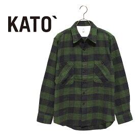 KATO` (カトー)スラブブロックチェックワークシャツ ☆日本国内送料・代引手数料無料☆