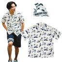 SALE・20%OFF【セール】MOMOTARO JEANS(桃太郎ジーンズ)オリジナルプリントアロハシャツ(開襟半袖シャツ)[正規取扱品]本品はポイント+1倍です!