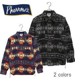 SALE・50%OFF【セール】PHERROW'S(PHERROWS)/フェローズオルテガ柄ワークシャツ(CPOタイプシャツジャケット)本品はポイント+1倍です!