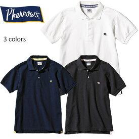 """PHERROW'S(PHERROWS)/フェローズバッファローワンポイント刺繍半袖ポロシャツ""""PPS1″"""