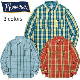 PHERROW'S(PHERROWS)/フェローズオリジナルチェックパターンヘビーオンスネルシャツ※日本国内送料・代引手数料無料※本品はポイント+4倍です!