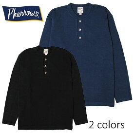 SALE・50%OFF【セール】PHERROW'S(PHERROWS)/フェローズ度詰めヘビー天竺ヘンリーネックTシャツ本品はポイント+1倍です!