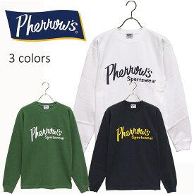 PHERROW'S(PHERROWS)/フェローズL/SロゴプリントTシャツ本品はポイント+4倍です!