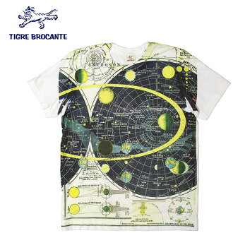TIGRE BROCANTE [ティグルブロカンテ] - The Cosmos S/S Tee - space pattern print short sleeves T-shirt ※Postage, collect on delivery fee for free in Japan※