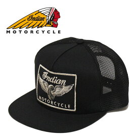 INDIAN MOTORCYCLE(インディアンモーターサイクル) - LOGO PATCH MESH CAP - 刺繍ワッペンデザインメッシュキャップサイズ:フリー カラー:ブラック