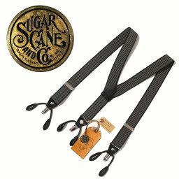 ☆郵費、貨到付款手續費免費☆SUGAR CANE(shugaken)-2WAY SUSPENDER-吊帶SIZE:FREE COLOR:BLACK
