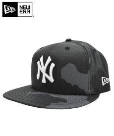 15%offクーポン配布中◆NEW ERA ニューエラ キャップ 9FIFTY ワックスドコットン ヤンキース ミッドナイトカモ × スノーホワイト 12108861 メンズ 帽子 CAP 刺繍 送料無料