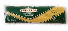 DELVERDE【カッペリーニ】500g髪の毛のように細いロングパスタ