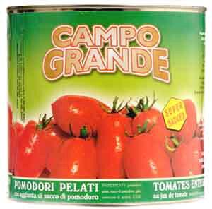 業務用トマト缶イタリア産カンポグランデ【ポモドーリ ペラーティ<ホールトマト>(2.5kg)】