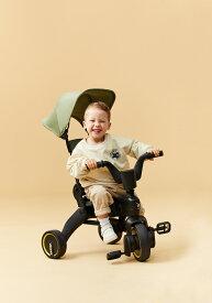 \\2021新カラー人気// リキトライク カーキ 世界最小 折りたたみ 三輪車 10ヶ月〜3歳 セカンドベビーカー 成長に合わせて 変形 1歳のお誕生日 プレゼント liki trike