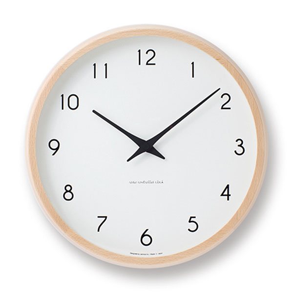 [ポイント最大26倍!]LEMNOS(レムノス)壁掛け時計Campagneカンパーニュナチュラルlm-PC10-24WNT【P10】