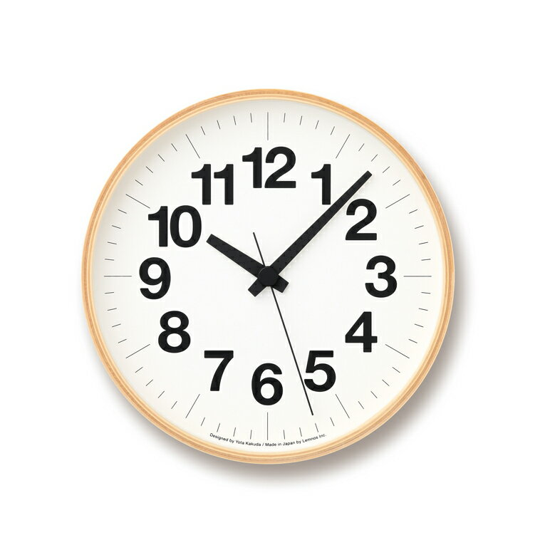 [最大25倍]LEMNOS(レムノス)壁掛け時計ナンバーの時計MサイズYK16-03M【P10】【10P14Apr18】