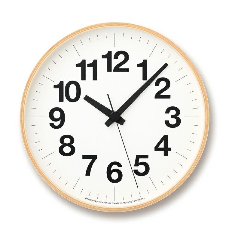 [最大25倍]LEMNOS(レムノス)壁掛け時計ナンバーの時計LサイズYK16-03L【P10】【10P14Apr18】