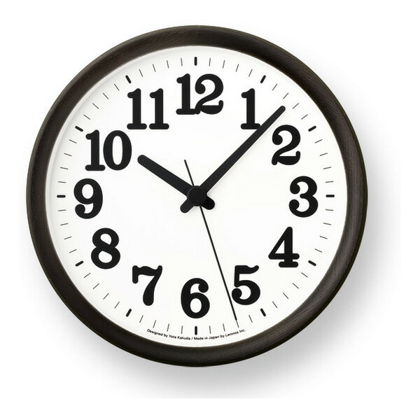 [最大25倍]LEMNOS(レムノス)壁掛け時計ClockCブラックYK15-02BK