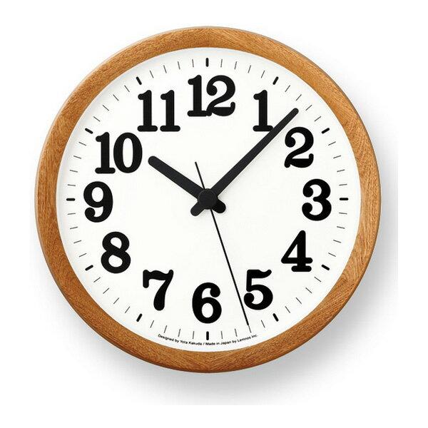 [最大25倍]LEMNOS(レムノス)壁掛け時計ClockCナチュラルYK15-02NT