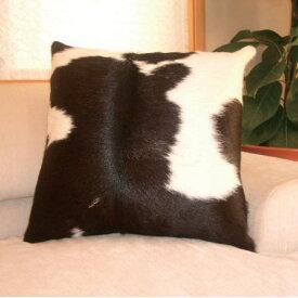 スプリングヴァレーCowhideクッションカバー45×45cmクッション付きblack&white(ブラック&ホワイト)ワンピース012-1S/45black&white【P10】