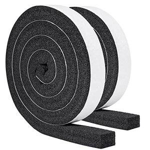 YoTache隙間テープ 防音 防水 気密 断熱 窓用エアコンや空気清浄機に適用 静音テープ 気密防水パッキン25mm (幅) x 25mm (厚さ) x 2m(長さ) x 2本