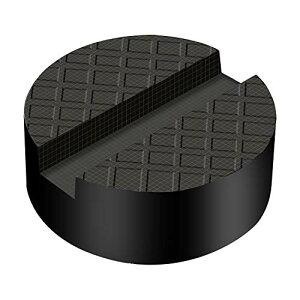 Firecore ジャッキパッド ジャッキ用品 ジャッキアップ用アダプター ゴムジャッキパッド 超高耐久 特殊繊維入り ジャッキ用ゴムパット 溝有タイプ ゴムパッド アルカン ガレージジャッキ ア