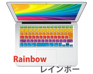 AppleWirelessKeyboard/MacBookキーボードカバー日本語(JIS配列)AirProRetina11/13/15インチ各モデル対応《RMC限定オリジナルデザインカラー》Keyboardcover[RMC]マックマックブックMaciMacレインボーrainbowmavericksカラー