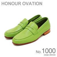 アナーオベーション(HonourOvation)コインローファーローファーレザー本革シューズNo.1000