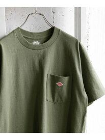 [Rakuten Fashion]DANTON クルーネック半袖ポケットTシャツ DOORS アーバンリサーチドアーズ カットソー Tシャツ ホワイト ブラック ネイビー ベージュ オレンジ ブラウン【送料無料】