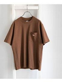 [Rakuten Fashion]DANTON クルーネック半袖ポケットTシャツ DOORS アーバンリサーチドアーズ カットソー Tシャツ ブラウン ホワイト ブラック ネイビー ベージュ オレンジ【送料無料】
