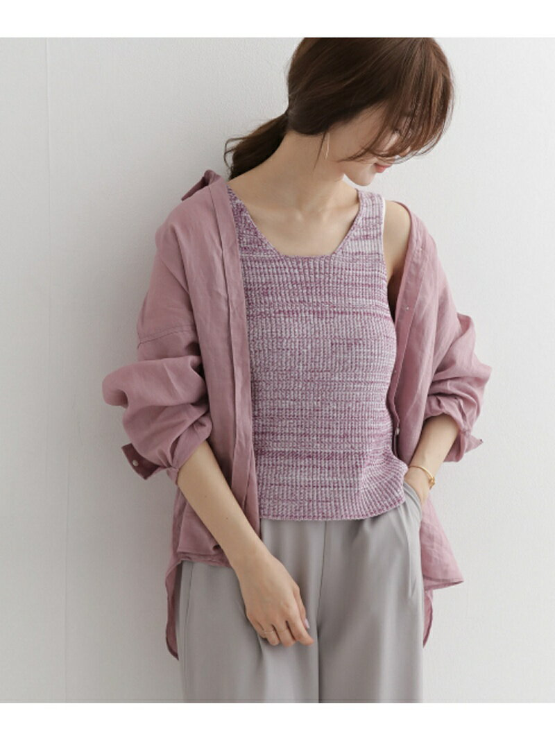 [Rakuten BRAND AVENUE]import Rib knit melange vest DOORS アーバンリサーチドアーズ ニット【送料無料】