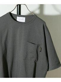 コーデュラナイロン ポケットTシャツ DOORS アーバンリサーチドアーズ カットソー Tシャツ グレー ホワイト ベージュ ピンク【送料無料】[Rakuten Fashion]