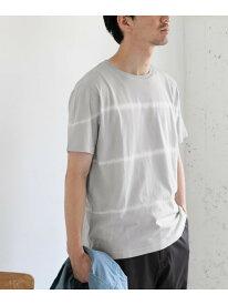 [Rakuten Fashion]【SALE/40%OFF】タイダイボーダーTシャツ DOORS アーバンリサーチドアーズ カットソー Tシャツ グレー ブラック【RBA_E】