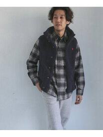 [Rakuten Fashion]GYMPHLEXT/Aボアフードベスト DOORS アーバンリサーチドアーズ コート/ジャケット コート/ジャケットその他 ネイビー ベージュ【送料無料】
