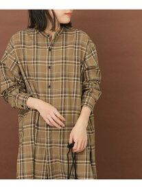 [Rakuten Fashion]FORK&SPOONネルチェックバンドカラーロングシャツ DOORS アーバンリサーチドアーズ シャツ/ブラウス シャツ/ブラウスその他 ブラウン グレー グリーン【送料無料】