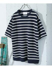 [Rakuten Fashion]鹿の子ショートスリーブTシャツ DOORS アーバンリサーチドアーズ カットソー Tシャツ ホワイト ブルー