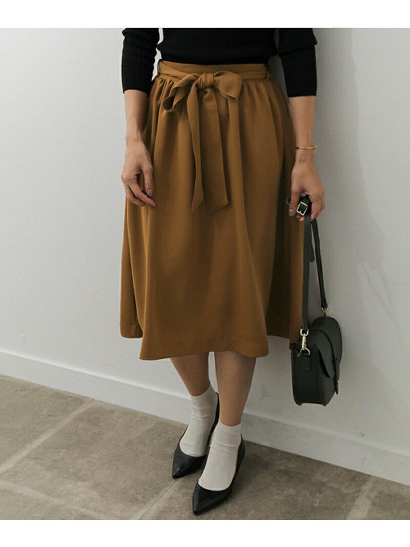 [Rakuten BRAND AVENUE]【SALE/50%OFF】ウエストリボン付ギャザースカート DOORS アーバンリサーチドアーズ スカート【RBA_S】【RBA_E】【送料無料】