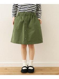 【SALE/45%OFF】フロントボタンスカート(KIDS) DOORS アーバンリサーチドアーズ パンツ/ジーンズ キッズパンツ ベージュ ネイビー【RBA_E】[Rakuten Fashion]