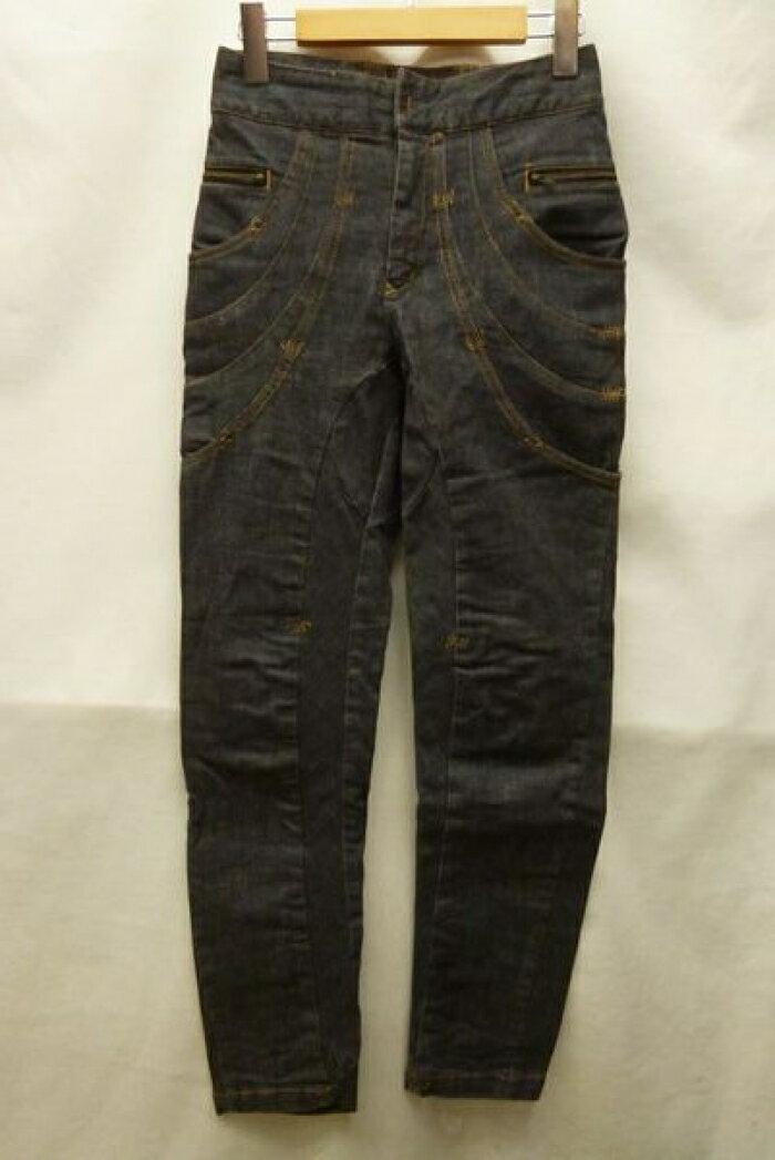 TSUMORI CHISATO ツモリチサト テーパード デザイン ブラック デニム パンツ 日本製 黒 サイズ:1【中古】【送料無料】