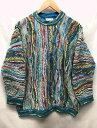 COOGI australia クージー オーストラリア クルーネック マルチカラー コットン ニット セーター 青系 サイズ:SS 【…