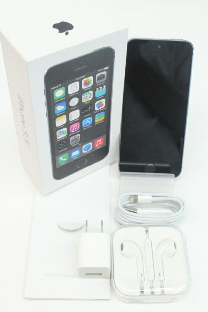 【中古】【白ロム】【SoftBank】iPhone5S 64GB[スペースグレイ]【○判定】