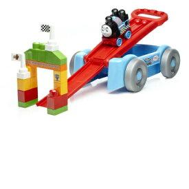 フィッシャープライス 1才からのメガブロック トーマスを走らせて遊ぼう! 2WAYレーシングワゴン 21ピース DXH57