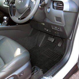 C-HR フロアマット パーツ ドレスアップ 専用 カスタム CHR トヨタ オプション パーツ アクセサリー 5P ハイブリッド専用 ブラック 内装 カーマット