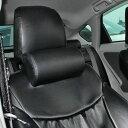 ネックパッド ブラック レザー 2点セット 車中泊 グッズ ピロー カバー マット クッション 枕 首元 低反発 アクセサリー