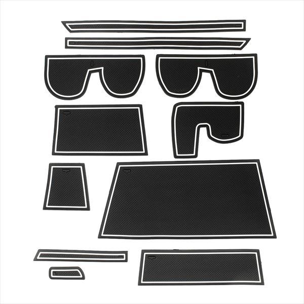 【ポイント20倍】ハスラー ポケットマット ドア 防音 シート マット 11P インテリア 光る 小物 カスタム 部品 ドレスアップ アクセサリー ノンスリップ スズキ SUZUKI フレア クロスオーバー