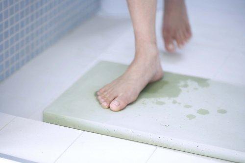 【新品】 soil 珪藻土 バスマット スクエア ブルー