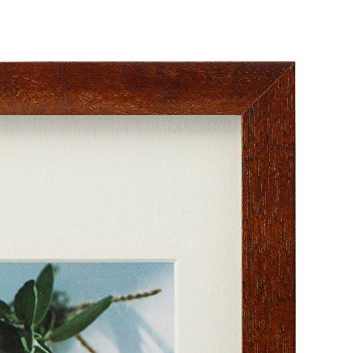 【新品】 HAKUBA フォトフレーム スクウェア 木製 額 カレ はがき サイズ 1面 ブラウン ハガキ 木製 FSQCR-BRKG1