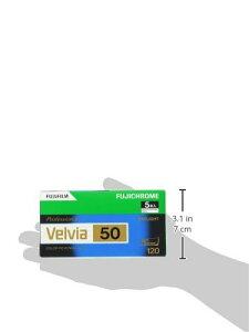 【新品】 FUJIFILM リバーサルフィルム フジクローム Velvia 50 ブローニー 12枚 5本 120 VELVIA50 EP NP 12EX 5