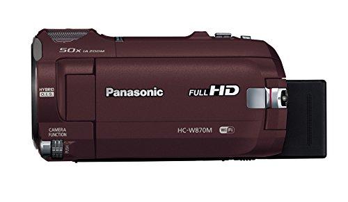 【新品】 Panasonic HDビデオカメラ W870M ワイプ撮り 50倍ズーム ブラウン HC-W870M-T