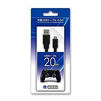 【中古】【PS4対応】充電USBケーブル2.0mforワイヤレスコントローラーDUALSHOCK4
