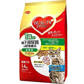 【中古】ビューティープロ ビューティープロ キャット 猫下部尿路の健康維持 低脂肪 1歳から フィッシュ味 1.4kg