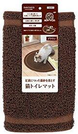 【中古】ペティオ (Petio) ネココ 猫トイレマット ブラウン 猫用